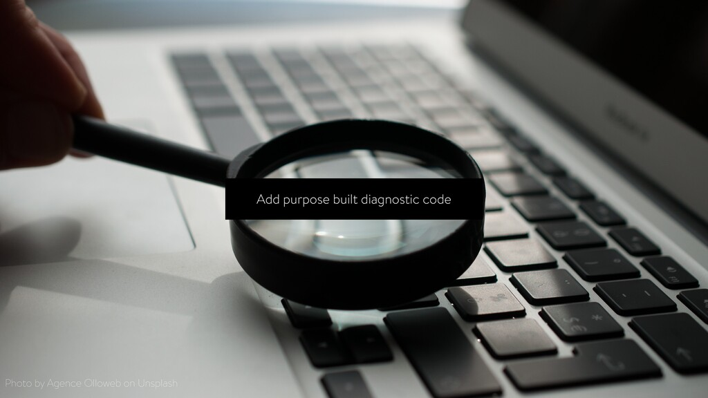 Add purpose built diagnostic code Photo by Agen...
