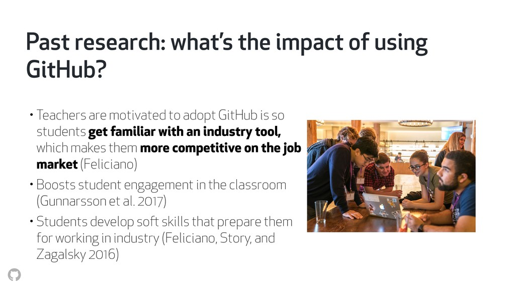 Past research: what's the impact of using GitHu...