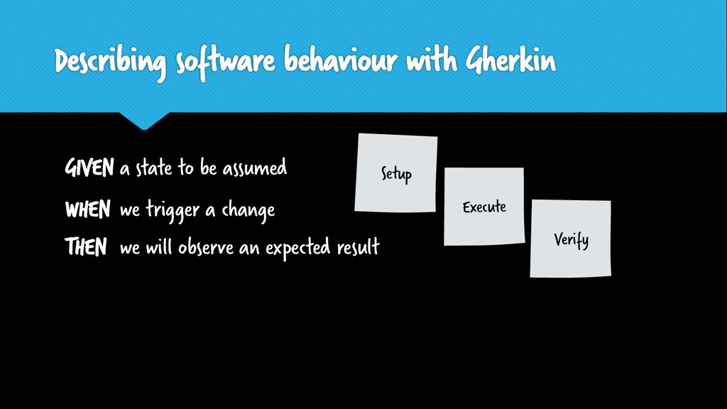 Describing software behaviour with Gherkin GIVE...