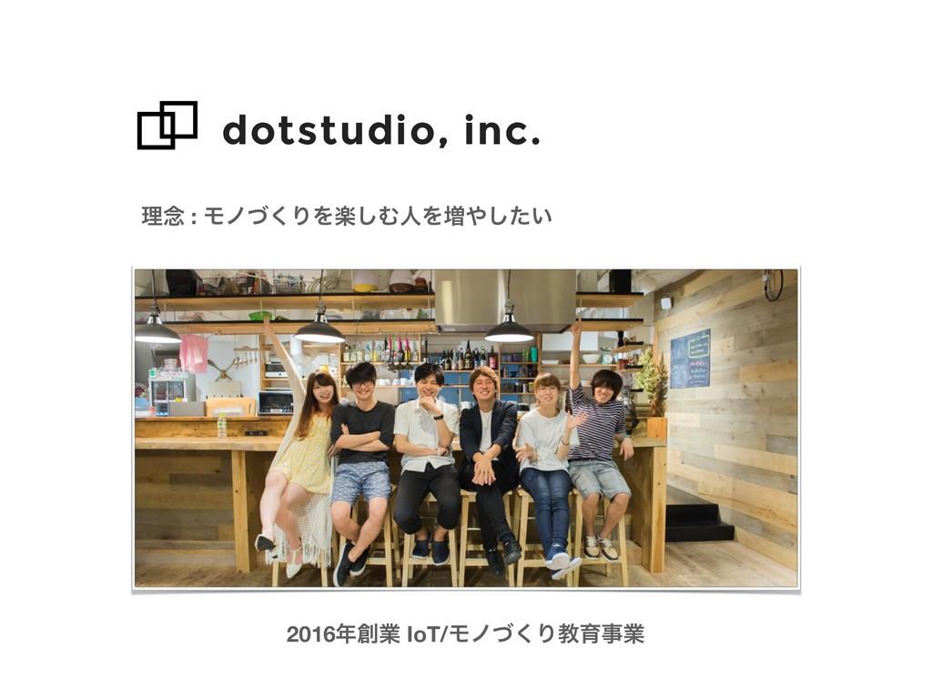 dotstudio, inc. ཧ೦ : Ϟϊͮ͘ΓΛָ͠ΉਓΛ૿͍ͨ͠ 2016ۀ I...
