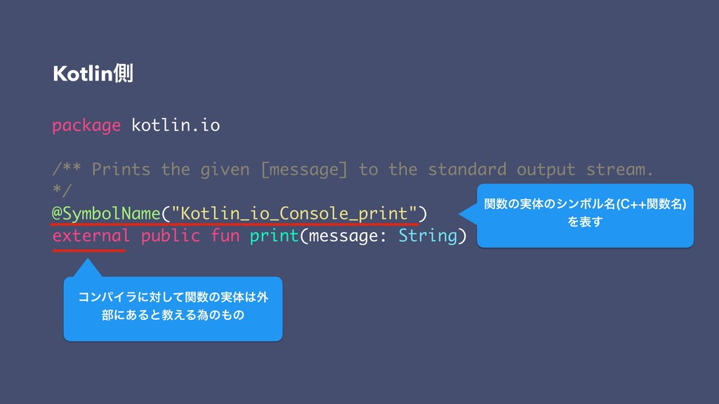 package kotlin.io /** Prints the given [message...
