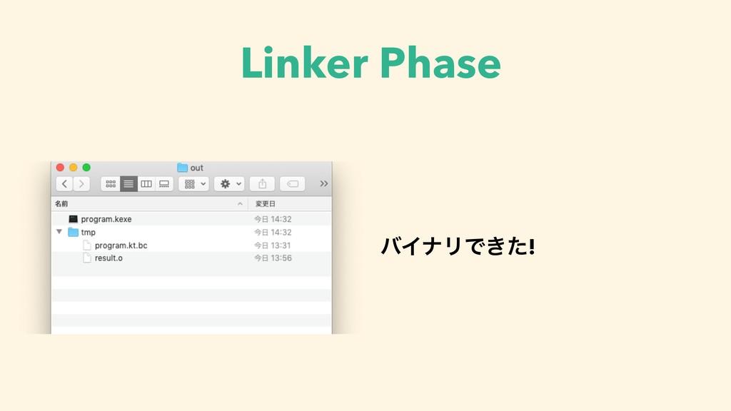 Linker Phase όΠφϦͰ͖ͨ!
