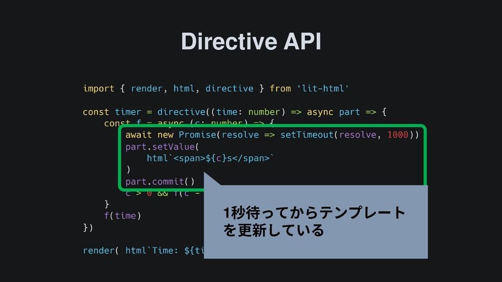Directive API 1