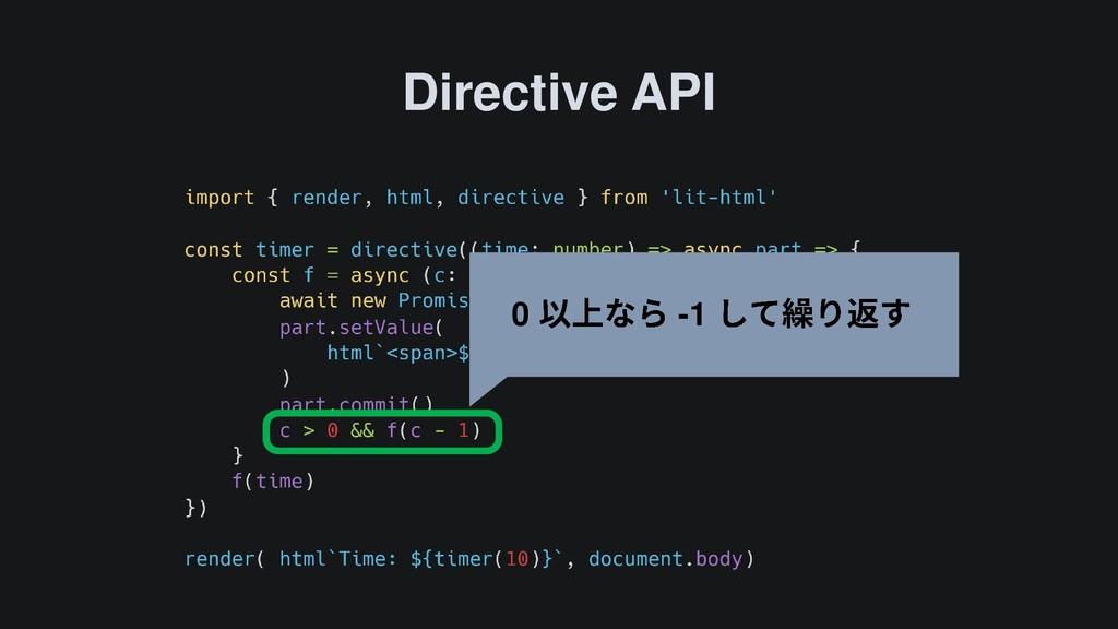 Directive API 0 -1