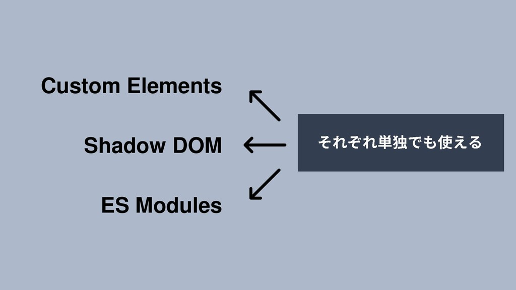 Custom Elements Shadow DOM ES Modules