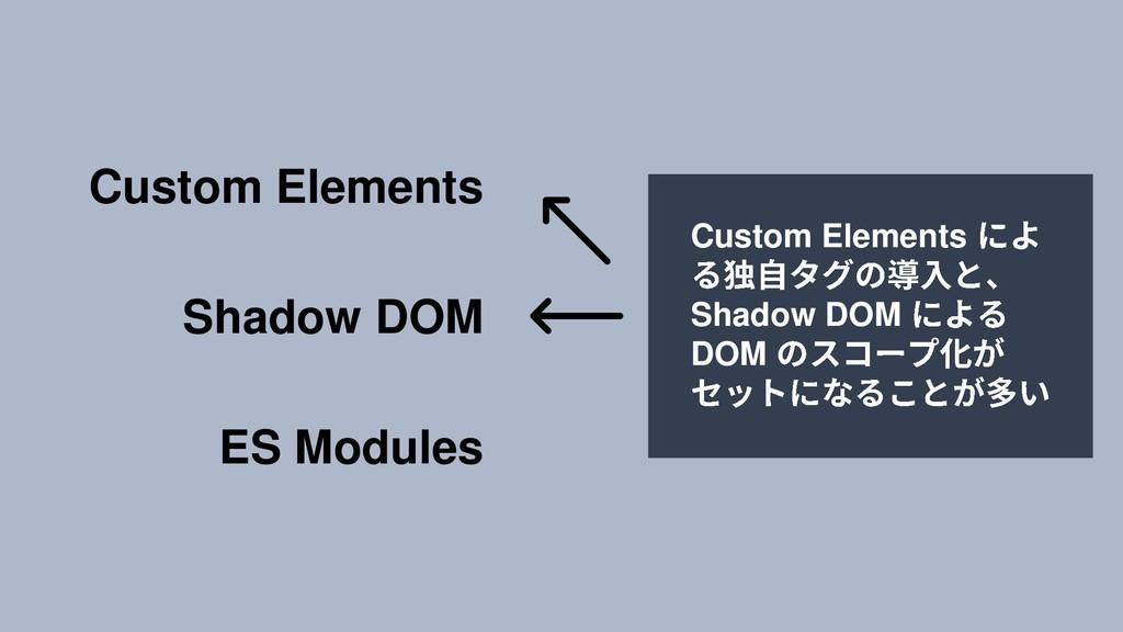 Custom Elements Shadow DOM ES Modules Custom El...