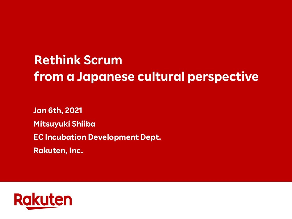 Rethink Scrum from a Japanese cultural perspect...