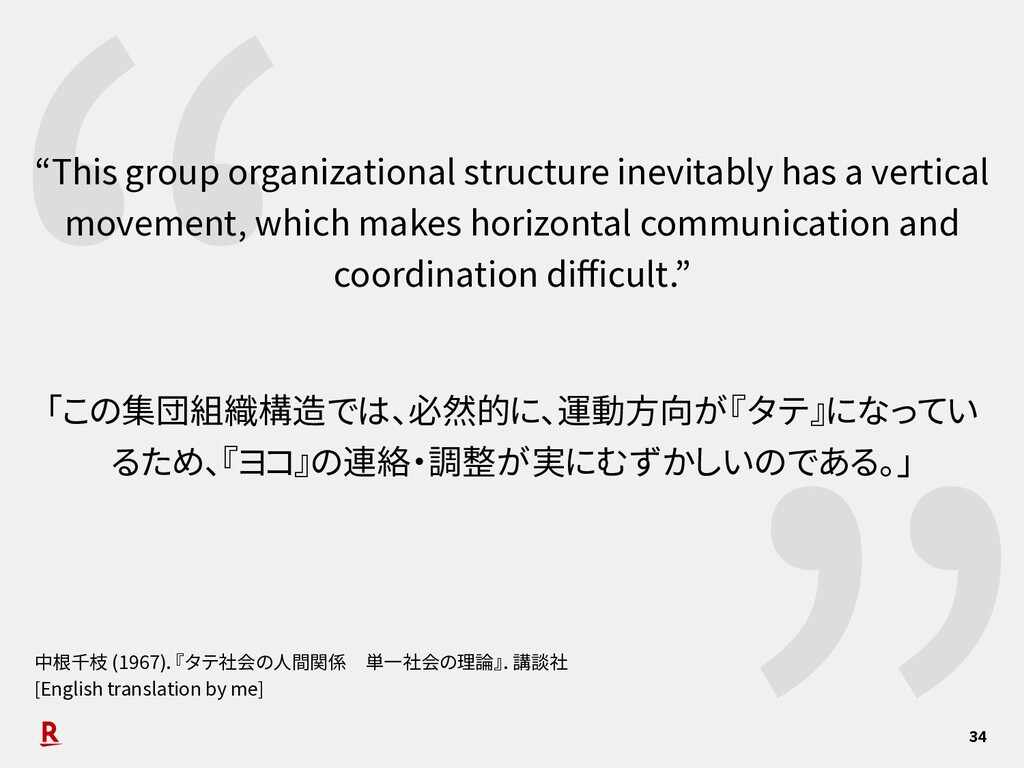 """ 34 ""This group organizational structure inevi..."