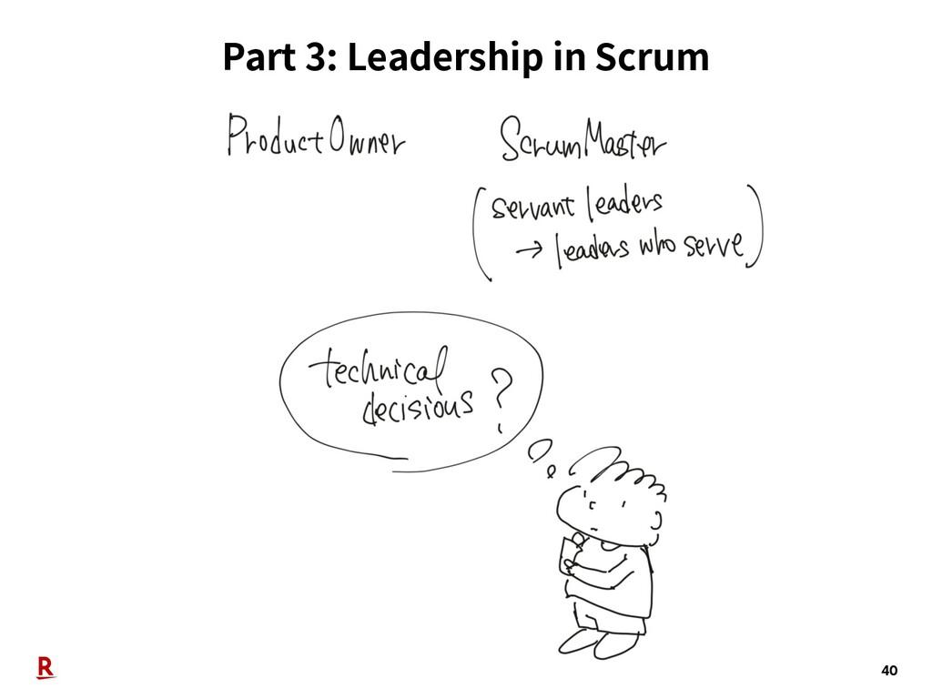 Part 3: Leadership in Scrum 40