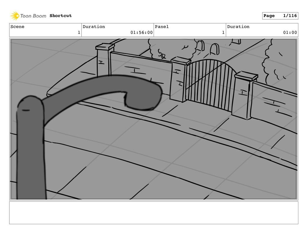 Scene 1 Duration 01:56:00 Panel 1 Duration 01:0...