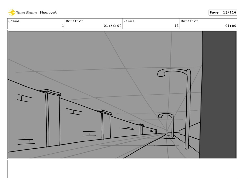 Scene 1 Duration 01:56:00 Panel 13 Duration 01:...