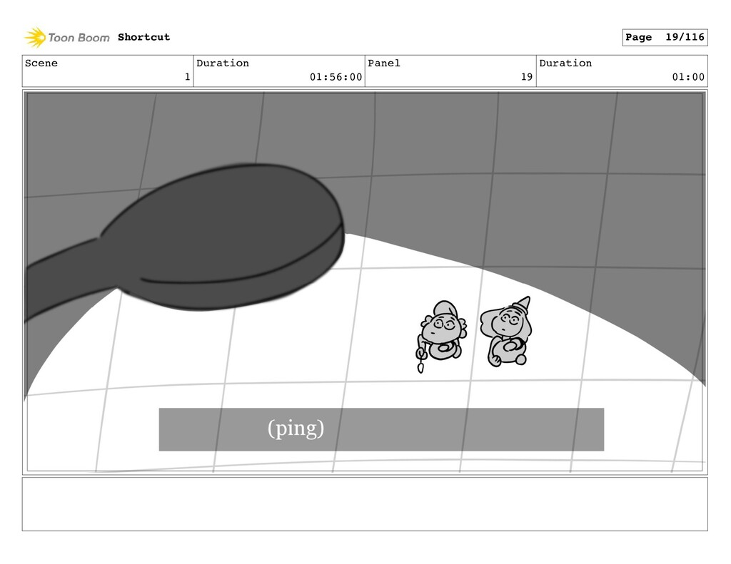 Scene 1 Duration 01:56:00 Panel 19 Duration 01:...