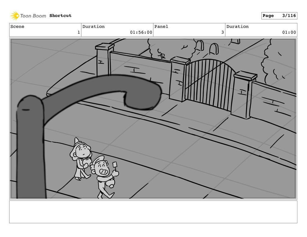 Scene 1 Duration 01:56:00 Panel 3 Duration 01:0...