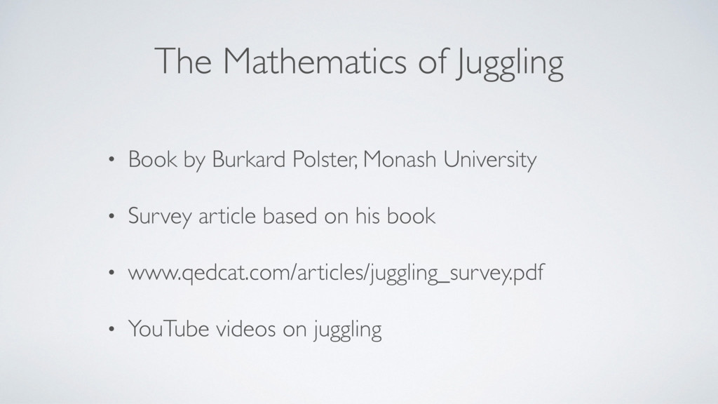 The Mathematics of Juggling • Book by Burkard P...
