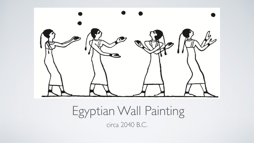 Egyptian Wall Painting circa 2040 B.C.