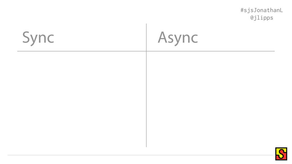 Sync #sjsJonathanL @jlipps Async