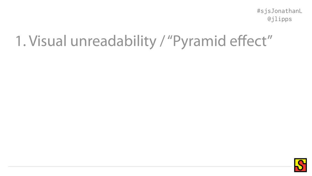 "1. Visual unreadability / ""Pyramid effect"" #sjsJ..."