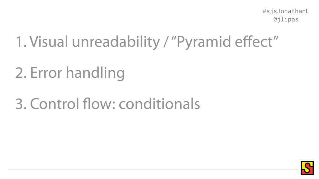 """1. Visual unreadability / """"Pyramid effect"""" 2. Er..."""