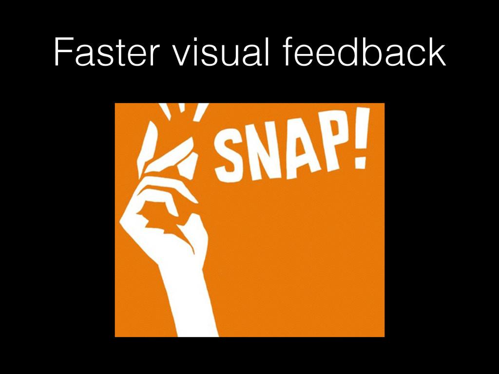 Faster visual feedback