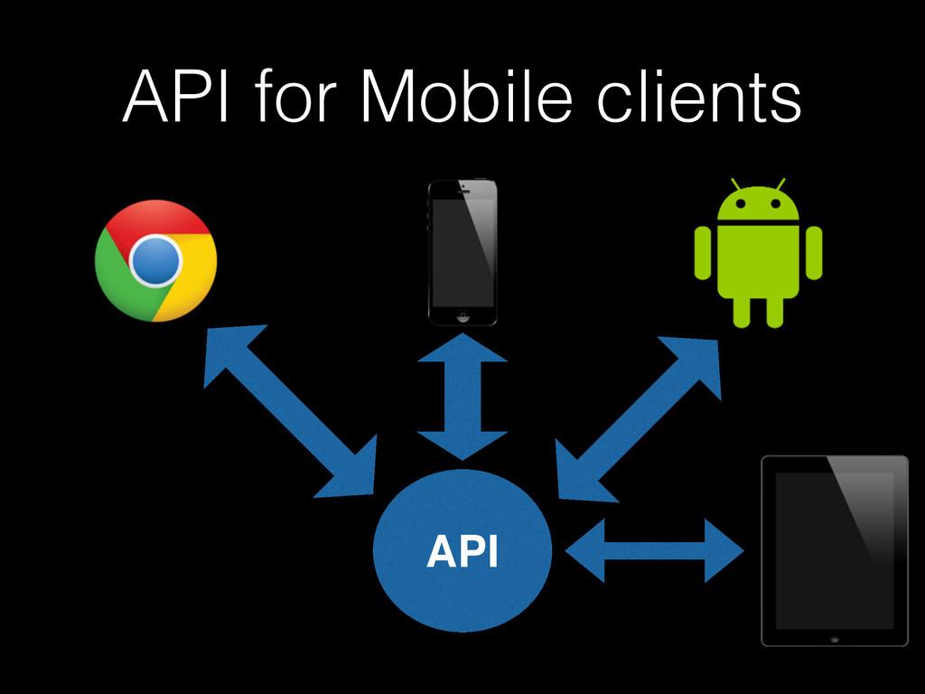 API for Mobile clients API