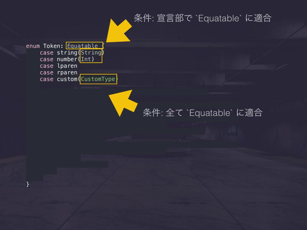 enum Token: Equatable { case string(String) cas...