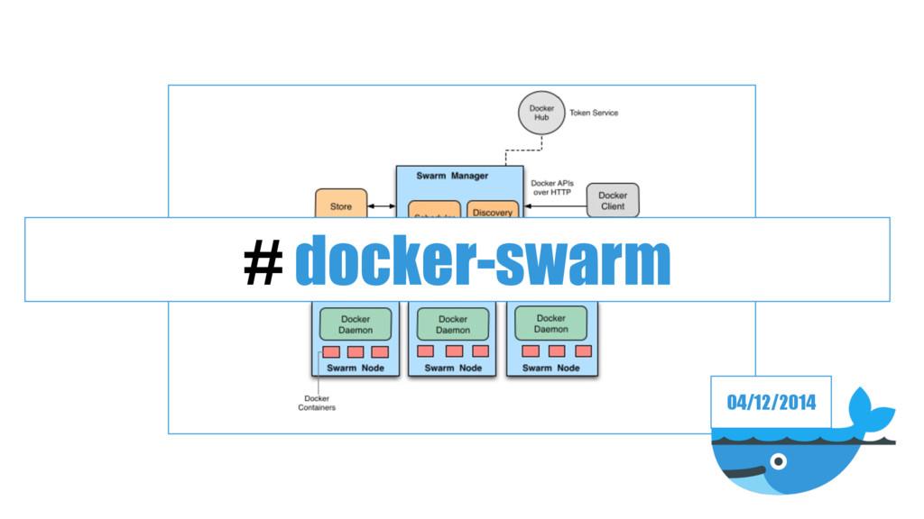 04/12/2014 # docker-swarm