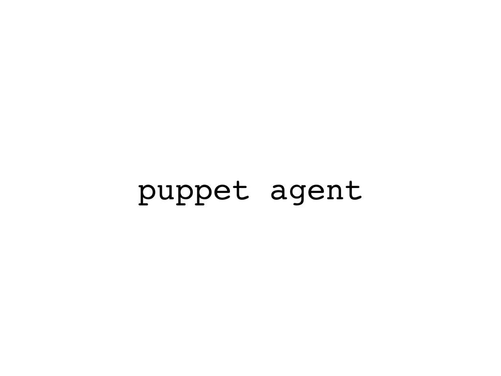 puppet agent