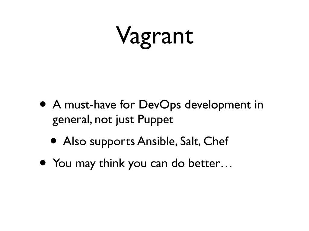 Vagrant • A must-have for DevOps development in...