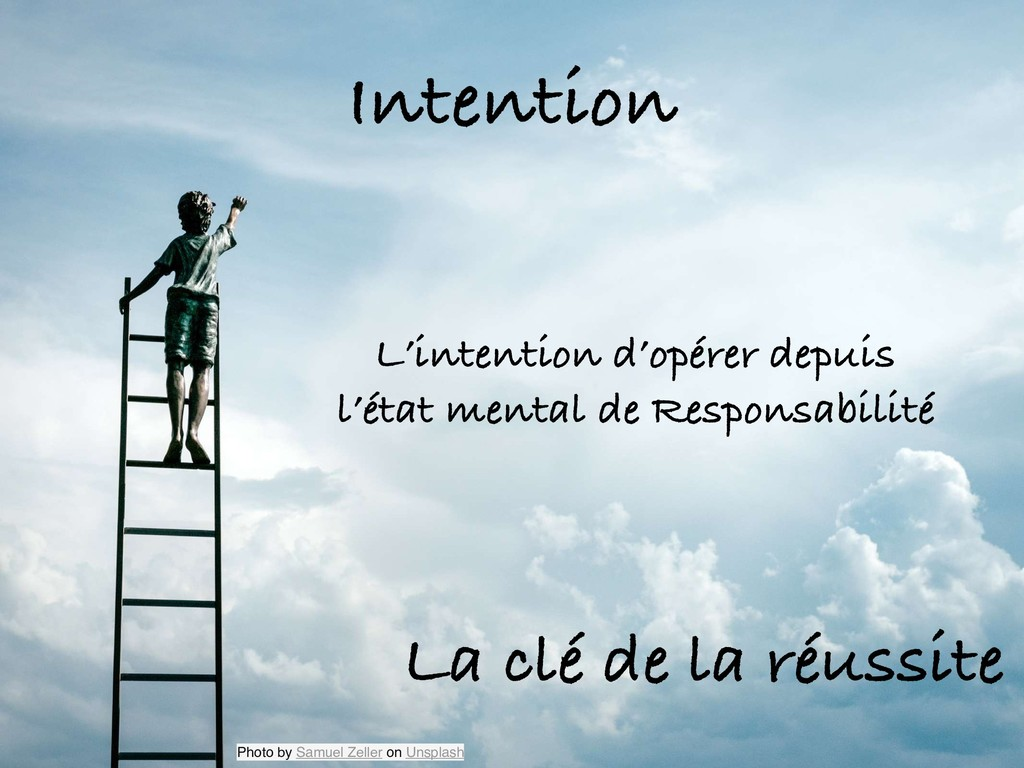 Intention L'intention d'opérer depuis l'état me...
