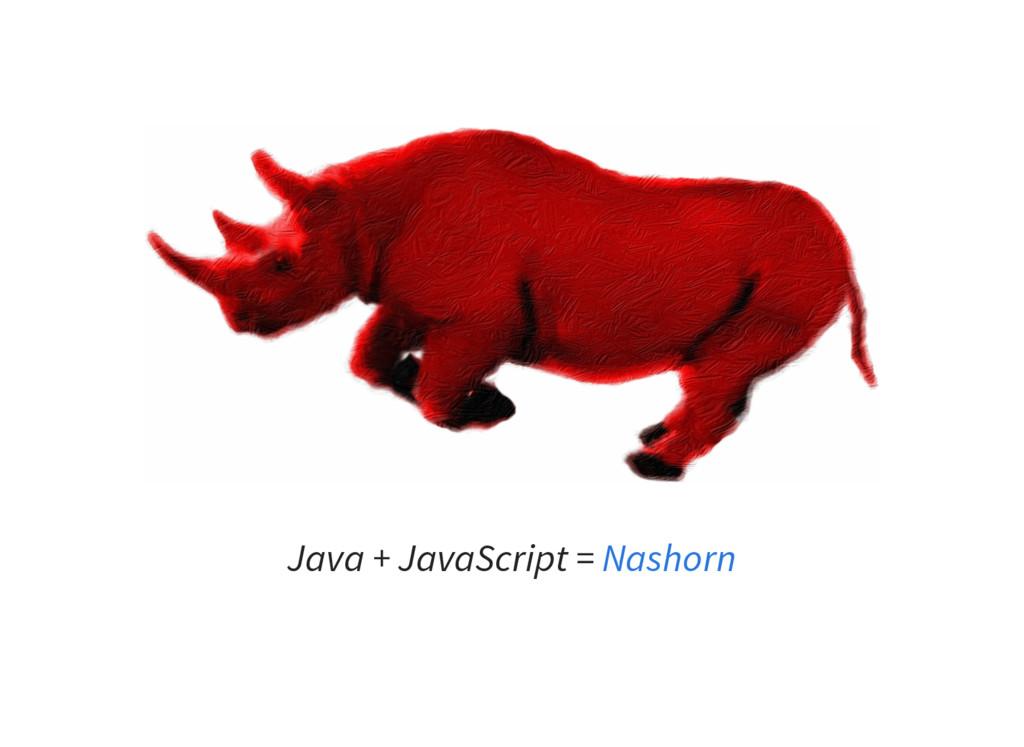 Java + JavaScript = Nashorn