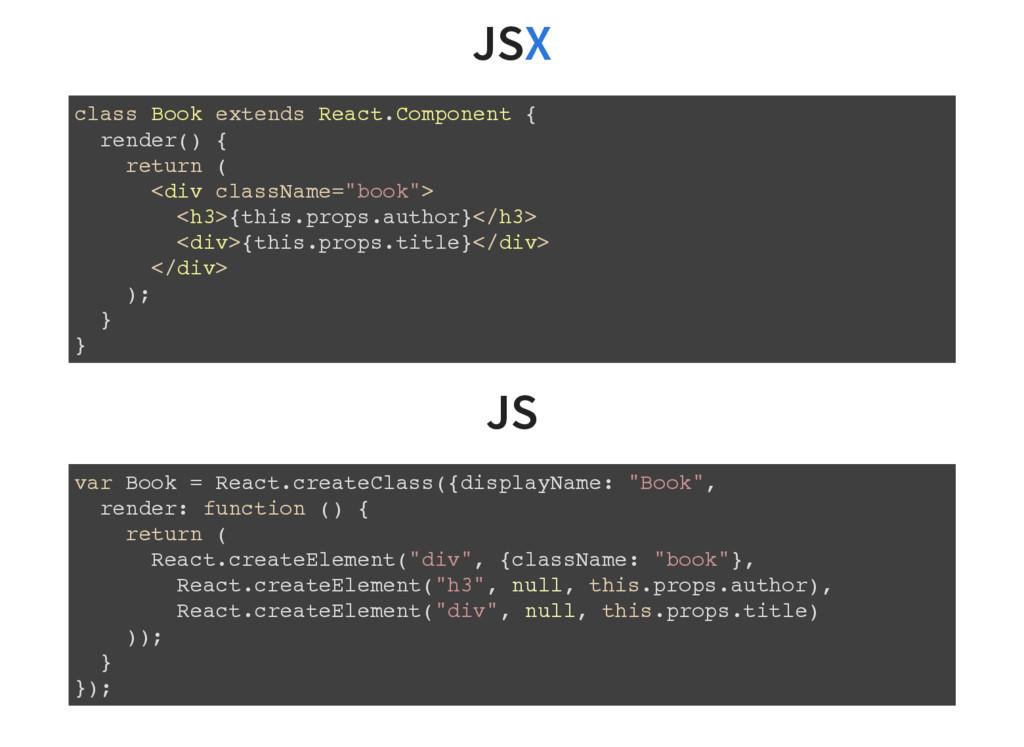 JS JS X class Book extends React.Component { re...