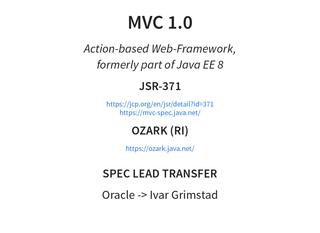 MVC 1.0 Action-based Web-Framework, formerly pa...