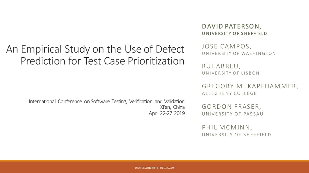 An Empirical Study on the Use of Defect Predict...