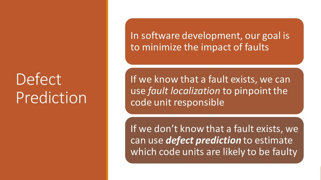 Defect Prediction In software development, our ...