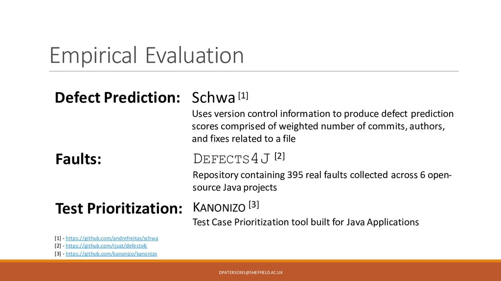 Empirical Evaluation Defect Prediction: Schwa[1...