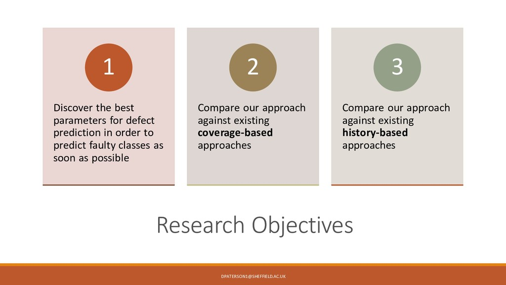 / Research Objectives Discover the best paramet...