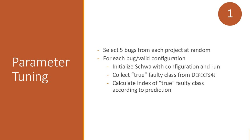 - Select 5 bugs from each project at random - F...