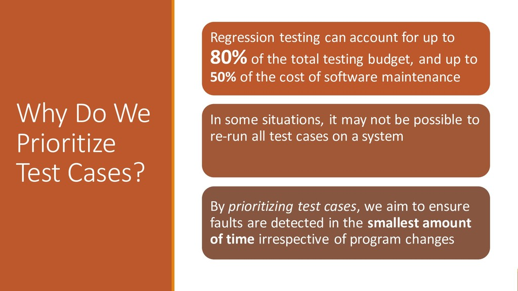Why Do We Prioritize Test Cases? Regression tes...