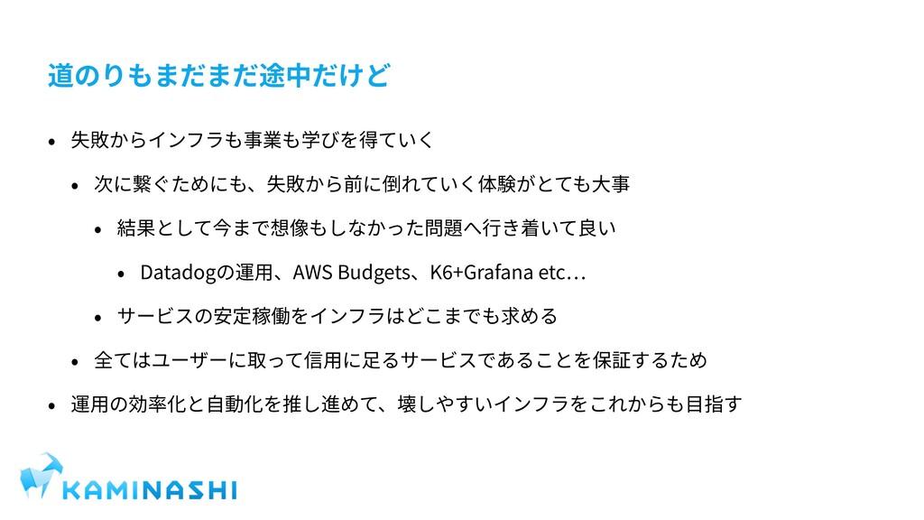 Datadog AWS Budgets K +Grafana etc