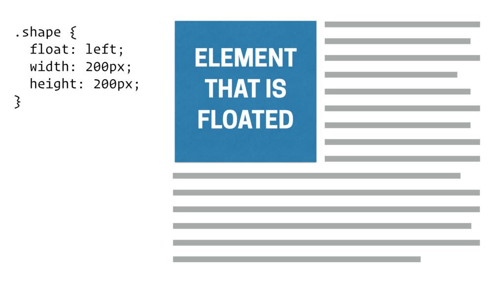 .shape { float: left; width: 200px; height: 200...