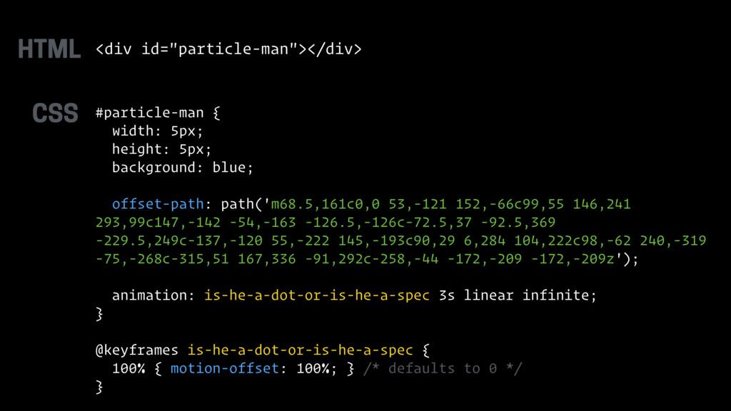 """<div id=""""particle-man""""></div> #particle-man { w..."""