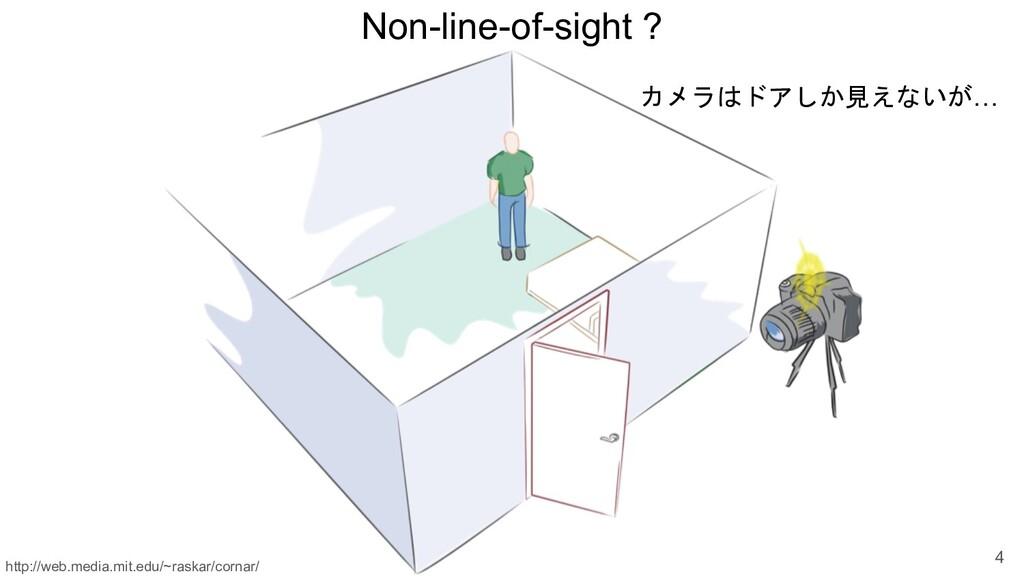 Non-line-of-sight ? 4 カメラはドアしか見えないが… http://web...