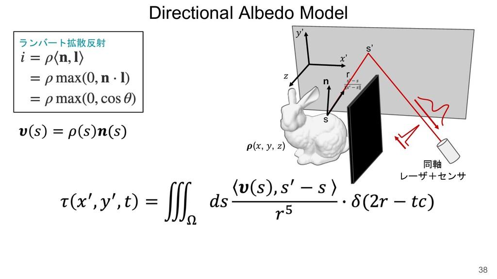 "Directional Albedo Model 38 !' ""' # $(!, "", #) ..."