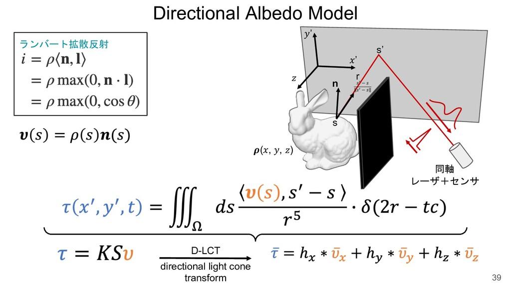 "Directional Albedo Model 39 !' ""' # $(!, "", #) ..."