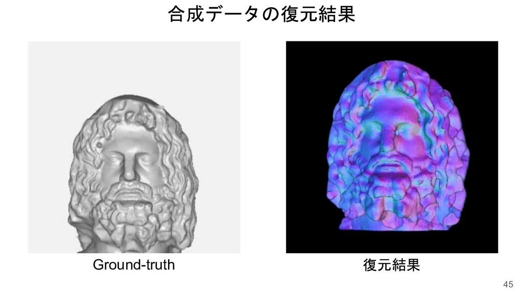 合成データの復元結果 45 Ground-truth 復元結果