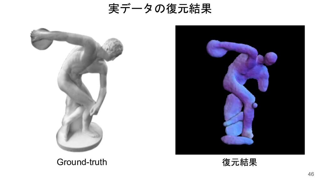 実データの復元結果 46 復元結果 Ground-truth