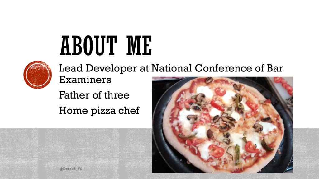 ABOUT ME Lead Developer at National Conference ...