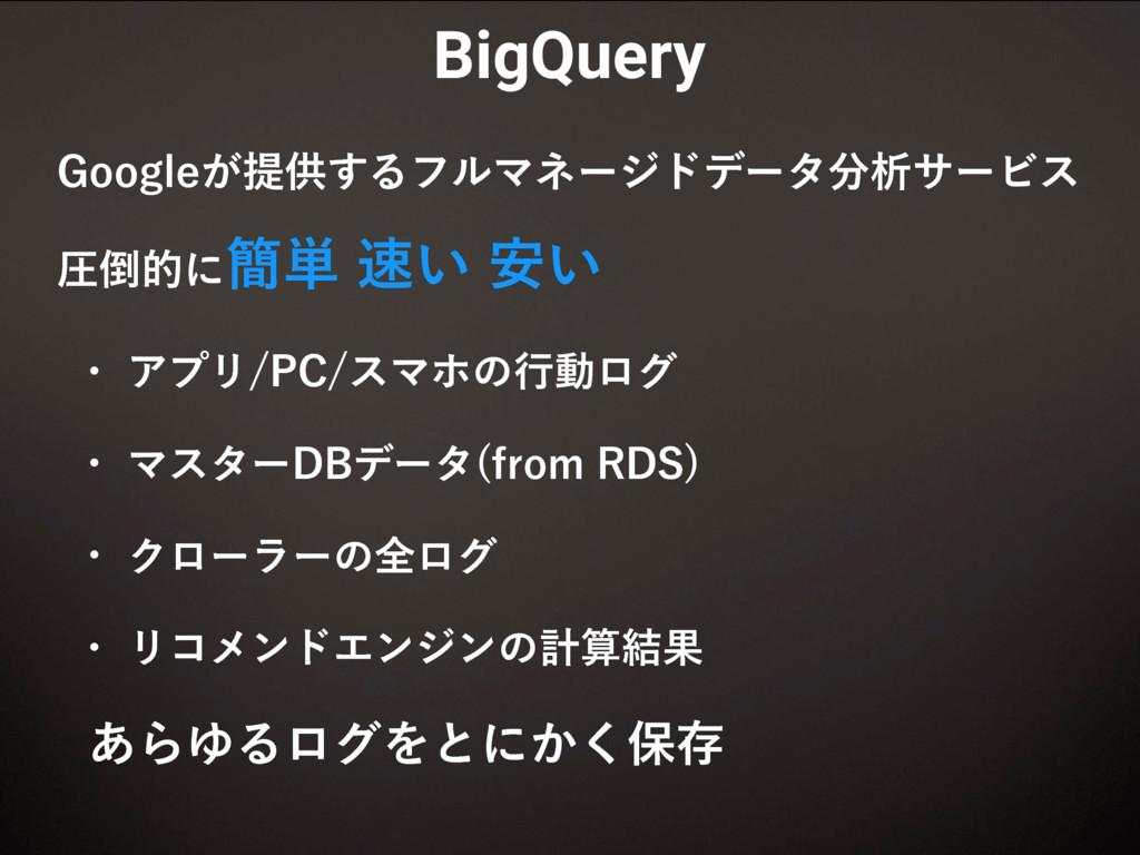BigQuery (PPHMF͕ఏڙ͢ΔϑϧϚωʔδυσʔλੳαʔϏε ѹతʹ؆୯͍...