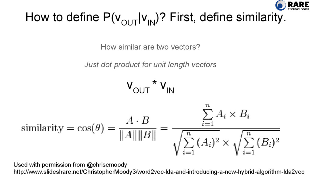 How to define P(v OUT  v IN )? First, define si...