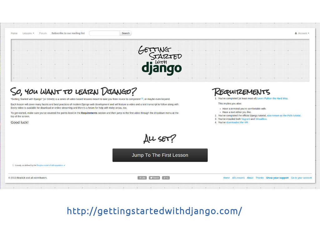 http://gettingstartedwithdjango.com/
